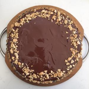 chocolate on tart